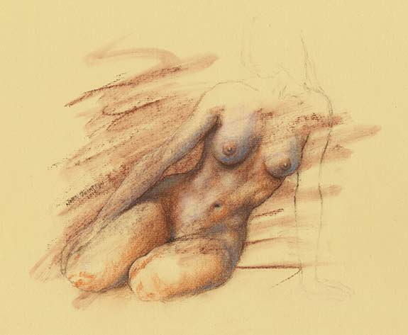 Figure drawing by Nora Thompson
