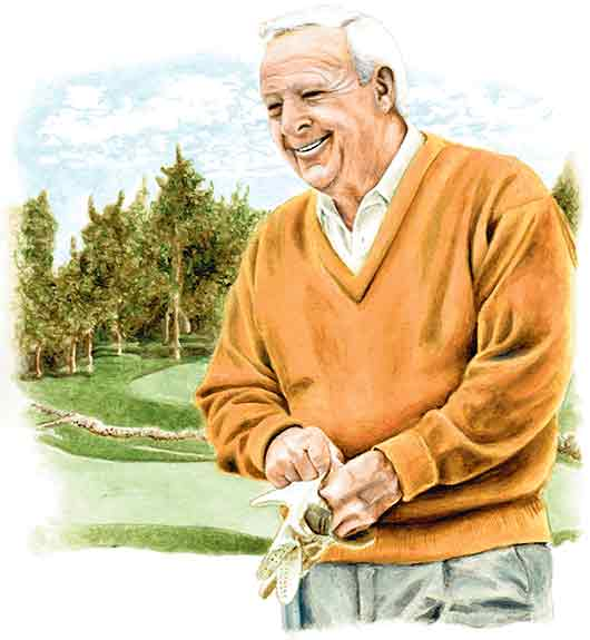 Portrait of Arnold Palmer by Nora Thompson