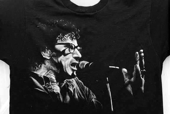 T-Shirt painting of Donnie Iris by Nora Thompson