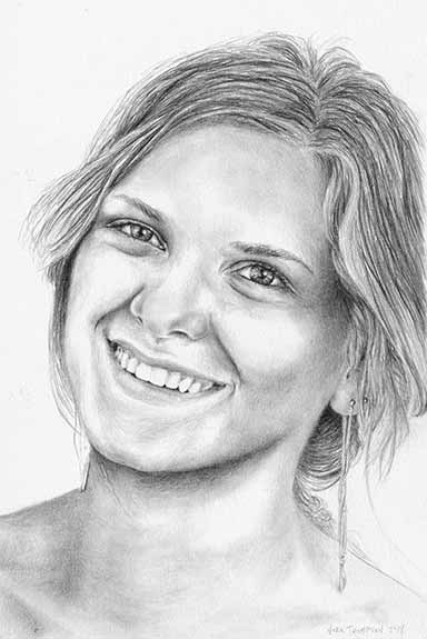 Portrait drawing by Nora Thompson