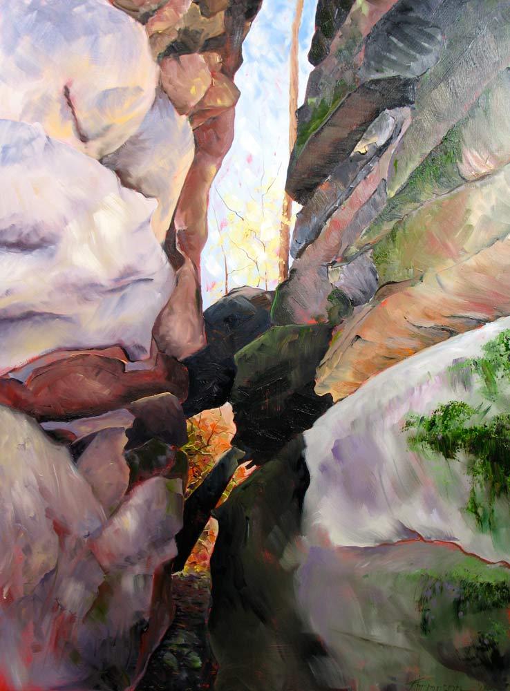 Rock Formation, Laurel Highlands Hiking Trail by Stuart Thompson