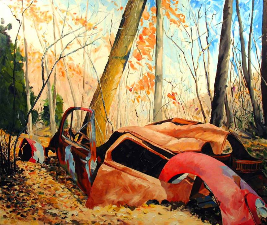 Abandoned Vehicle, Great Allegheny Passage Bike Trail by Stuart Thompson
