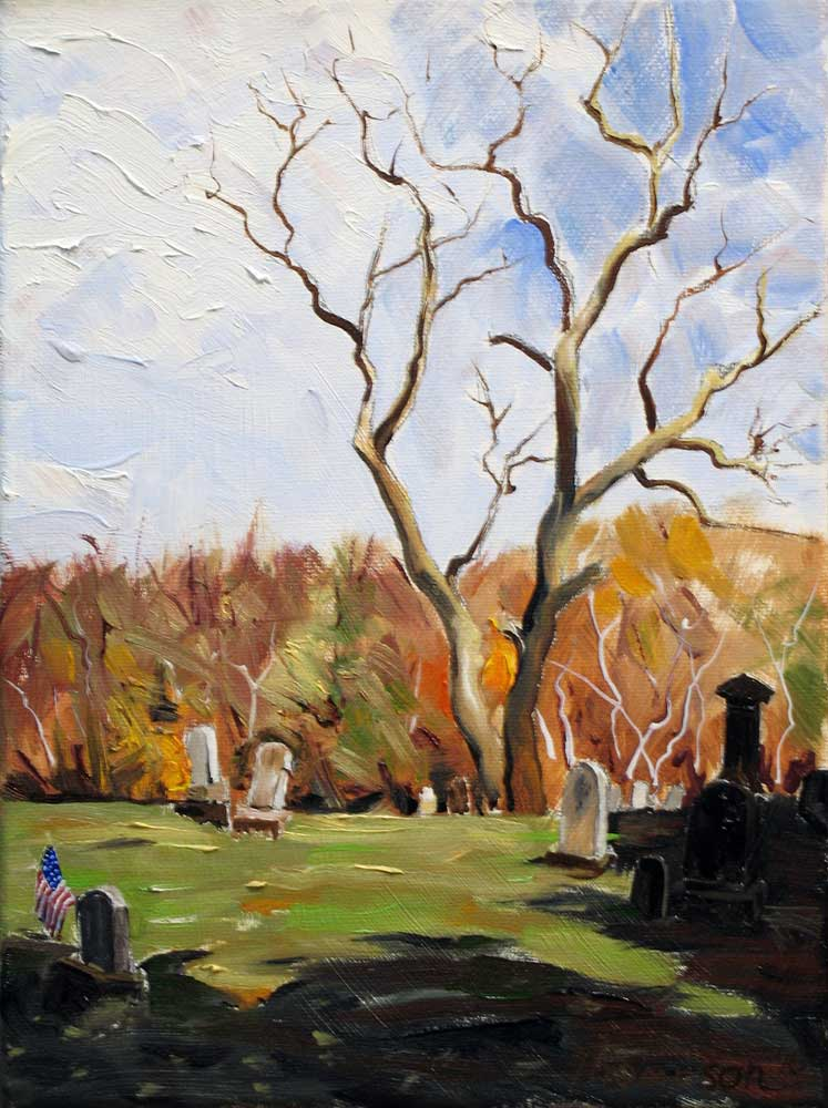 Dravo Cemetery, Great Allegheny Passage by Stuart Thompson