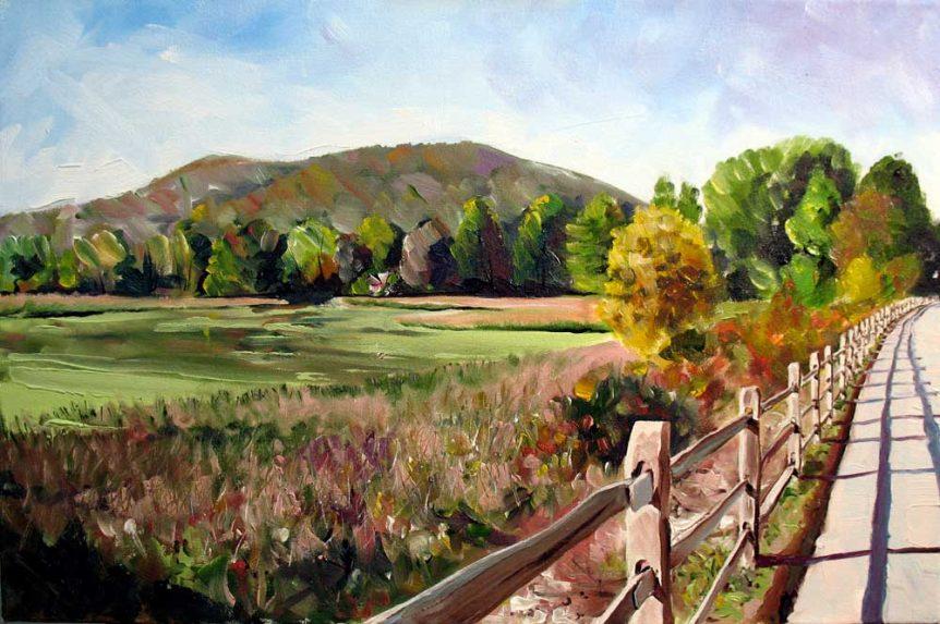 Marsh Along Pine Creek Trail by Stuart Thompson