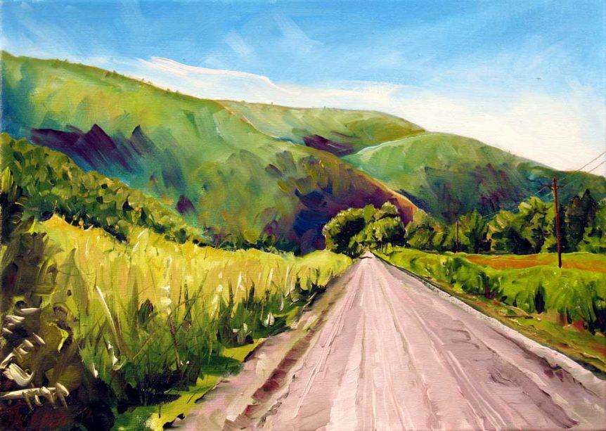 Pine Creek Trail Below Cammal by Stuart Thompson