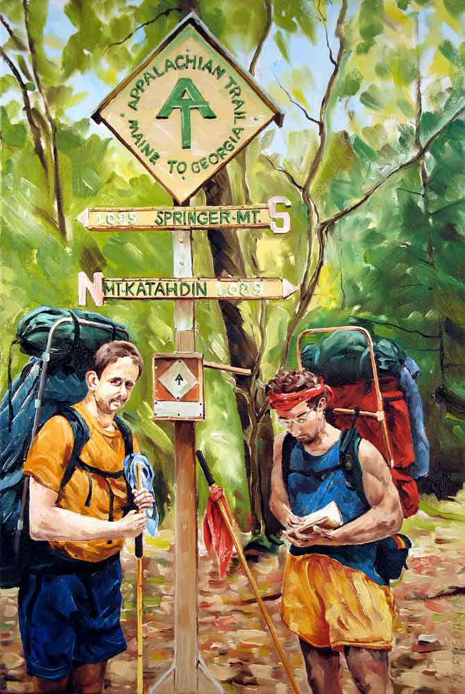 Signing the Register, Appalachian Trail by Stuart Thompson