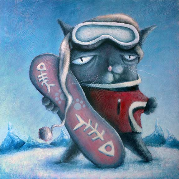 Square Kat Snowboarder