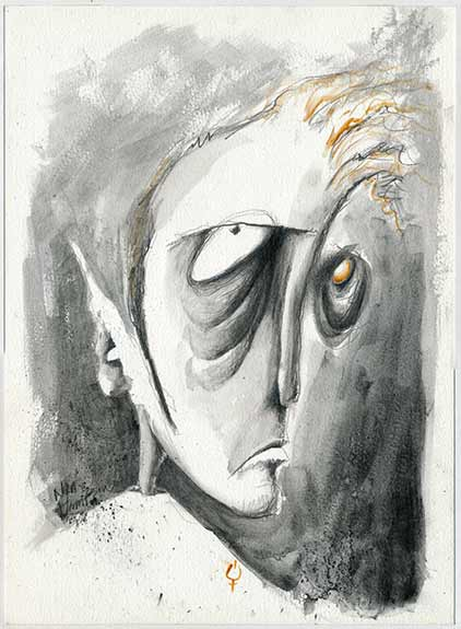 Sad Faced illustration