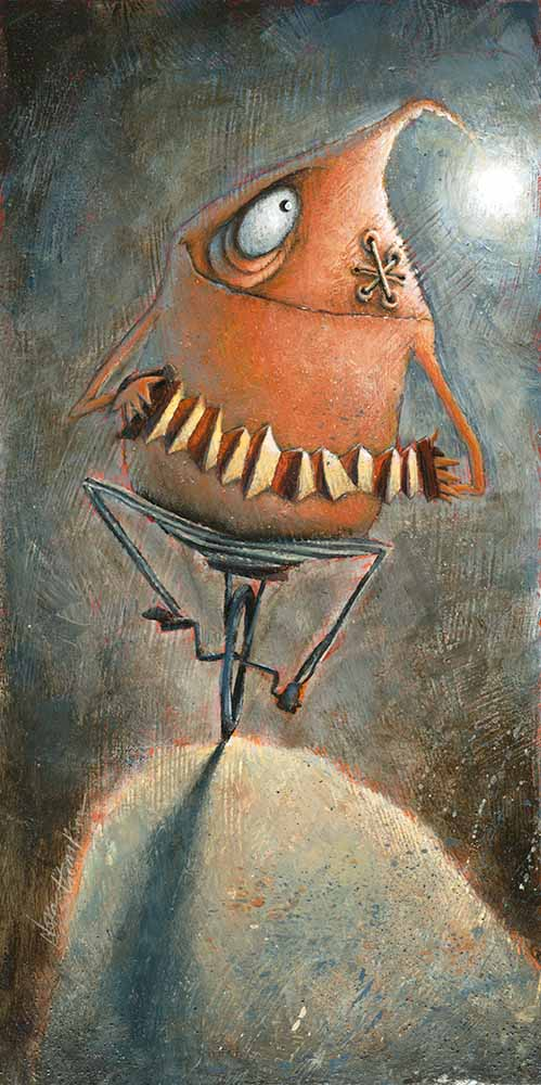 Accordion Unicyclist by Nora Thompson